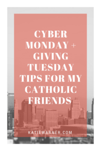 Cyber Monday and GivingTuesday