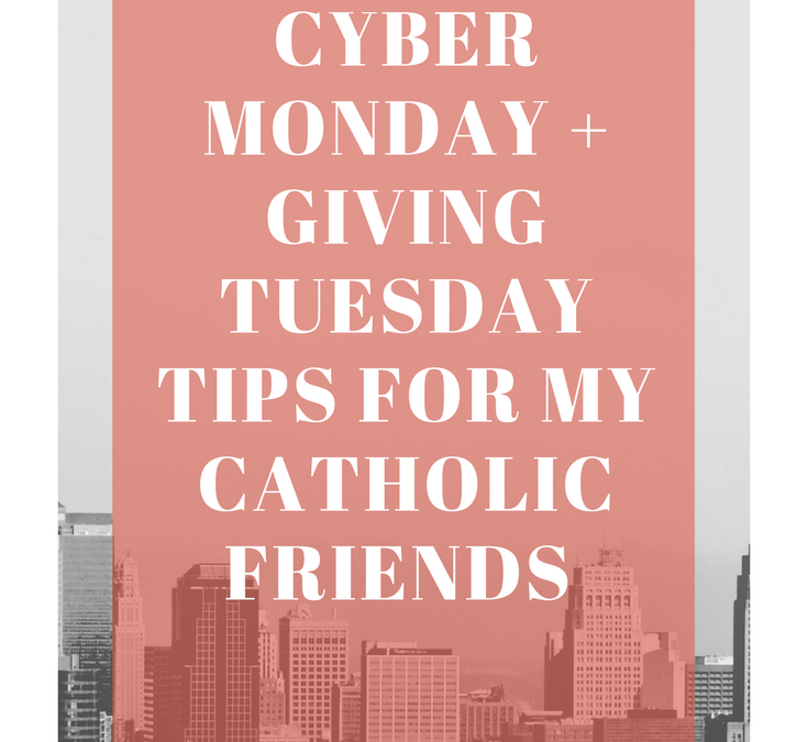 Cyber Monday Deal + What I'm Doing this #GivingTuesday
