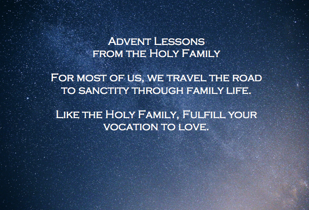 Lessons for Living from the Holy Family